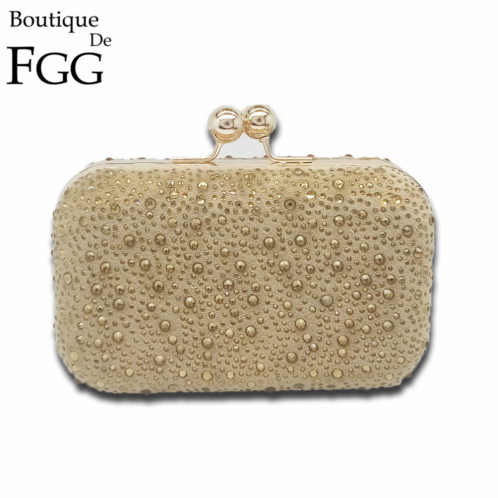Topaz Golden Hot-Fixed Crystal Diamond Women Wedding Evening Party Handbags Clutch Hard Case Metal Clutches Bag Shoulder Purse<br>