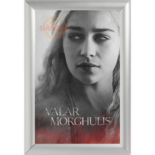 Silver Color Aluminum Alloy poster Frame Home Decor Custom Canvas Frame Daenerys Targaryen Canvas Poster Frame F170112#53(China)