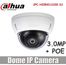 Dahua English 3MP POE IP Camera IPC-HDBW1320E upgraded to IPC-HDBW1320e-s2 replacing IPC-HDBW4300E HD mini Dome IR CCTV Camera