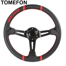 350MM Universal PVC Leather Sport Steering Wheel Racing Water-Proof Slip-Resistant Deep Corn Drifting Steering Wheel