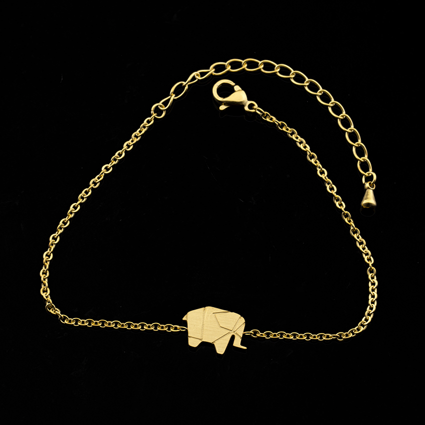 Rose Gold or Silver Plated Gift Origami Elephant Necklace 18K Gold
