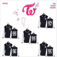 kpop TWICE MOMO MINA SANA baseball uniform Comfortable JACKETS hoodie