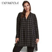 Buy DOMODA Big Size New Fashion Women Clothing Casual Basic Dress V-Neck Long Sleeve Shirt Dress Plus Size Dress 4XL 5XL 6XL 7XL for $11.91 in AliExpress store