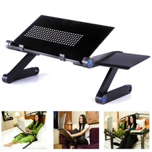 360 Foldable Laptop Desk Table Cooling Fan hole Stand Portable Lapdesks Tray New Laptop Stand Adjustable Holder For Bed Notebook