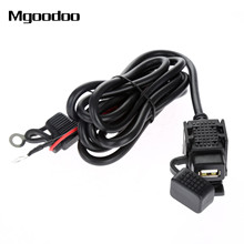 Mgoodoo Waterproof Motorcycle Car Charge USB Mobile Phone GPS Power Supply System Socket Port Charger For Ipad MP3 12V-24V 2.1A(China)