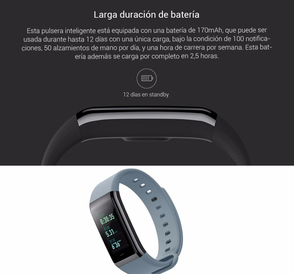Original Huami Amazfit Cor Smart Bracelet MiDong band English Version Waterproof IPS 316L Stainless Steel Frame For Android IOS-17