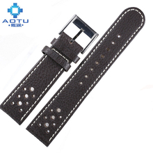 Genuine Leather Watch Straps For CITIZEN Watches Calfskin Mens Leather Watchbands For Citizen Vintage Male Bracelet Belt Band(China)