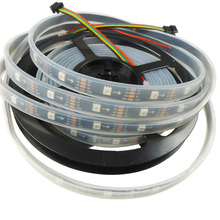 5M DC5V APA102 Smart LED Pixel Strip 30Pixels/m DATA and CLOCK Seperately 30LEDs/M Waterproof IP67 16.4ft(China)