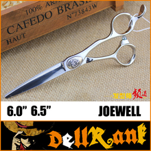"Japan Original ""JOEWELL"" Scissors 6.5 Professional Barber Hairdressing Salon Scissors 440C High Quality Hair Cutting Shears J-3(China)"