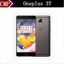 "Original Oneplus 3T One Plus Three T 4G LTE Mobile Phone Snapdragon 821 Android 7.0 5.5"" FHD 6GB RAM 128GB ROM 16.0MP+16.0MP NFC"