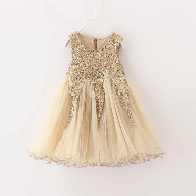 Flower Girl Princess Sequin Dress Toddler Baby Wedding Party Tulle Dress 2-7y girls Xmas dress<br><br>Aliexpress