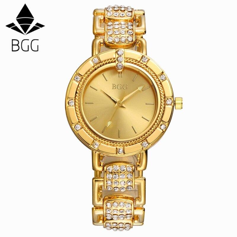 e15de695f68 Senhoras Relógio De Ouro Mulheres Relógio De Ouro Feminino Top De Luxo  CHENXI Marca Mulheres Vestido De Strass De Quartzo À Prova D  Água Relógios  Femininos