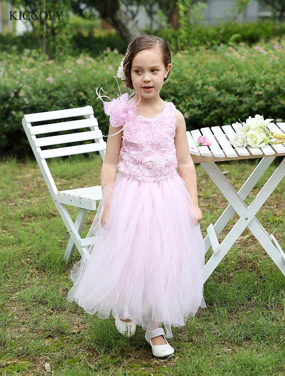 Lace Flower Girl Dress for Weddings First Communion Dresses girls pageant evening gowns vestido de festa infantil menina<br>