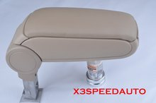 Free Shipping Cream Leather Center Console Armrest For AUDI 02 03 04 05 06 A4 S4,Not Fit Cabriolet