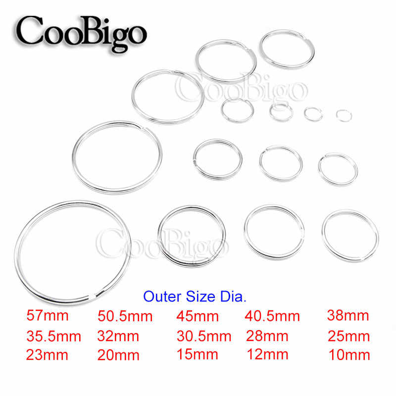 detail feedback questions about 5pcs 15 sizes 10mm~57mm outer5pcs 15 sizes 10mm~57mm outer diameter normal key rings key chain split o