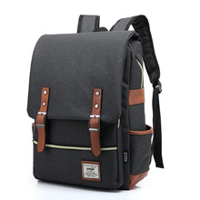Chuwanglin Fashion Canvas Men Daily Backpacks for Laptop Large Capacity Computer Bag Casual Student School Bagpacks Travel bag