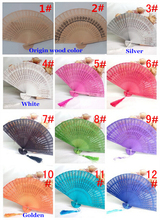 Painted hollow hand wood fan sandalwood for gift 100 pieces per lot
