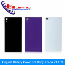 New Original Battery Cover For Sony Xperia Z1 L39 C6902 C6903 C6906 C6943 L39h Back Glass Housing Case With Waterproof Sticker