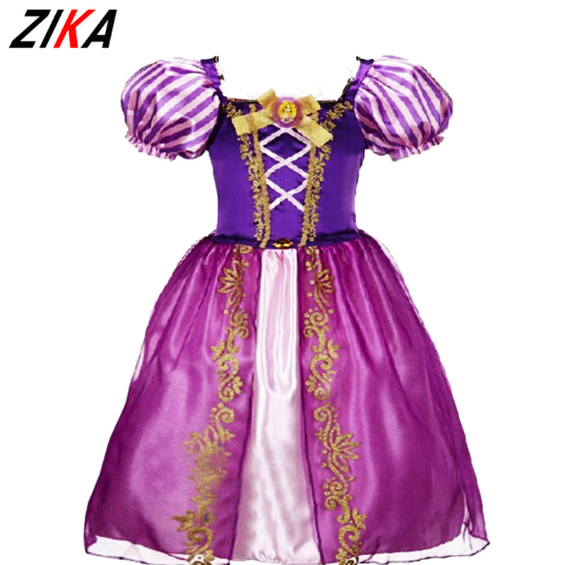 ZIKA2-9Years Princess Girls Cinderella Dress Children Clothing Rapunzel Aurora Kids Cosplay Costume Masquerade Ball Gowns ForKid(China)