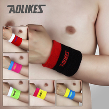 7.5*8.5cm Gym Wristbands Hand Towel Wrist Support for Tennis Basketball Sports Sweatbands Cotton Wrist Bracer(China)