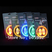 LED shoelace flashing luminous shoelaces e laces with Rugby shape LED LIGHT UP SHOELACES 5pairs