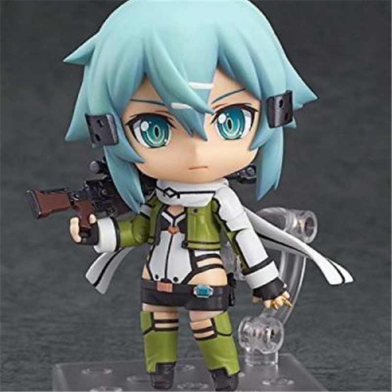[PCMOS] 2017 New Anime Sword Art Online II Sinon 452 Phantom Bullet 10cm Nendoroid Figure NO Box Free Shipping  5530-L<br><br>Aliexpress