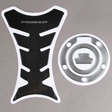 Carbon Fiber Motorcycle Decoration Decals Fuel Tank Pad Sticker + Gas Cap Pad Cover Stickers for Yamaha YZF R1 R6 FZ-1 FJR1300(China)