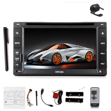 "Music 6.2"" In Dash Auto Radio Capacitive GPS EQ Stereo Autoradio 2 din PC MP4 CD Camera SD Map Car DVD Player(China)"