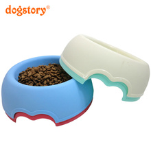 4 Colors Color Candy Plastic Dog Bowls Cat Food Dog Food Bowl Pet Supplies Dog Water Bowl Pet Christmas Gifts(China)