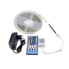 DC12V 5m IP20 / IP65 waterproof RGB RGBW RGBWW 5050 SMD LED strip light / 3A power supply adapter / RGB remote control home tape(China)