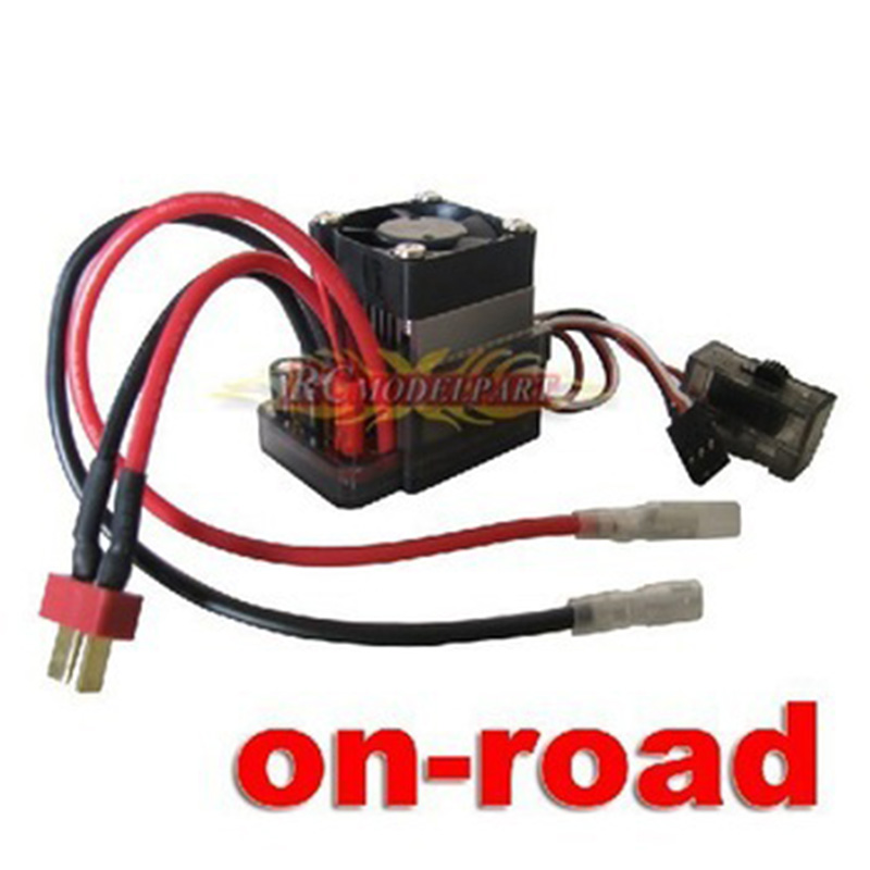 High-V 320A Brushed ESC Speed Controller with fan for On-road Car Truck Auto T plug<br><br>Aliexpress