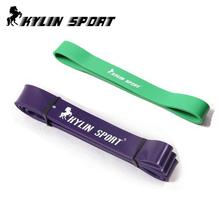 free shipping Set of 2 purple and green resistance bands short crossfit physics circle resistance band(China)