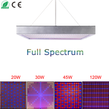 20W/30W/45W/120W High Power Plant lamp AC85~265V Full Spectrum LED Greenhouse Plants Hydroponics Flower Panel Grow Light