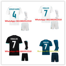 AAA 2017 2018 Top Best Qualit Short Realed Madrided adult kit+sock Soccer jersey 17 18 Home Away 3RD kit Shirt Free shipping(China)