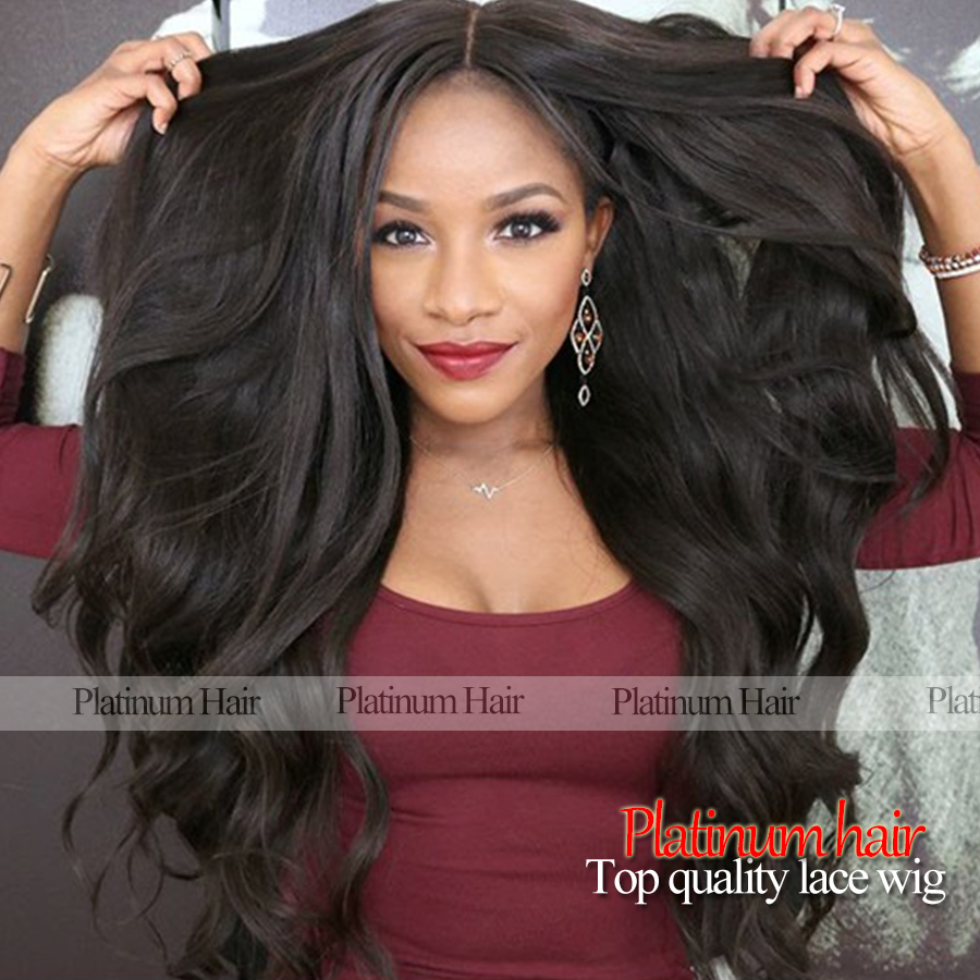 Factory Afforadble Long Body Wave Wig Heat Resistant Fiber Hair Wigs Synthetic Lace Front Wig For  African American<br><br>Aliexpress