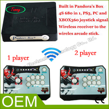 New Arrival Pandora Box 4S Wireless Arcade Stick Game Console also Supprot PS3 XBOX360 PC Arcade Fighting Stick