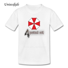 Resident Evil Umbrella T shirt 2017 Boys Girls Short Sleeve Tee Youth T-shirt 100% Cotton Clothes Tops For Toddler