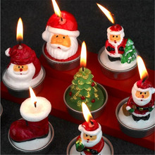 3 Pcs/Set Santa Claus Christmas Candle Christmas Ornaments Xmas Garland Candlestick Home Party Festival Layout Decorative JJ159(China)