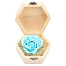 Soap Flowers Gift box for birthday Gifts Teacher's Gifts Luminous Blue(China)