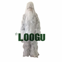 Snow White Tactical Camouflage Ghillie Suit Kit Camo Military Durable Sniper for Winter Traning Bowhunt Hunting Birding clothes(China)