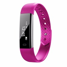 ID115 Smart Bracelet Heart Rate Monitor Fitness Tracker Step Counter Bluetooth Band Alarm Clock Vibration Wristband Compatible