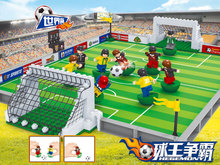 Model building kits compatible lego city football series 3D blocks Educational model building toys hobbies children