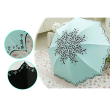 Multi-function Umbrella and Sunshade Colorful Umbrella The Water Bloom and UV Protection Umbrella Folding Umbrella