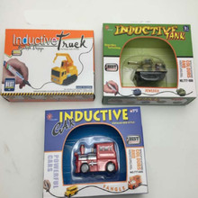 Magic  Inductive vehicles track pen Children's Cars inductive Tank Toy  without battery
