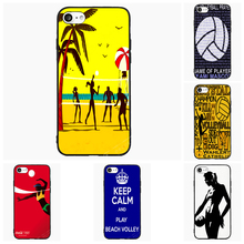 Volleyball Beach Volley Sports For Samsung Galaxy S Note 2 3 4 5 6 7 Edge Active Mini Cell Phone Cases Cover Shell Decor Gift(China)