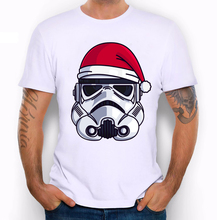 mens t shirts fashion 2017 T-shirt CHRISTMAS STORMTROOP print t shirt men summer funny Tshirt men hipster brand star wars Tees(China)