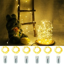 2M 20LED fairy garland Lamp LED String Lights by CR2032 battery operated for Christmas wedding Birthday party Holiday Decoration(China)