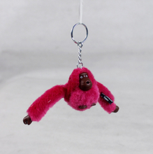 1pcs New Original Kiple Cute Monkey Mobile Phone Plush Chain Kids Keychain Fans Collection DIY Pendant Dolls Gift 104
