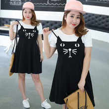 Manufacturers supply a sells large size women summer new fat mm fat XL cartoon dress 1208