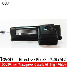 520TV lines LED Night Vision waterproof  HD CCD Car Rear View Reverse Camera for Toyota HARRIER ALTEZZA PICNIC ECHO VERSO CAMRY